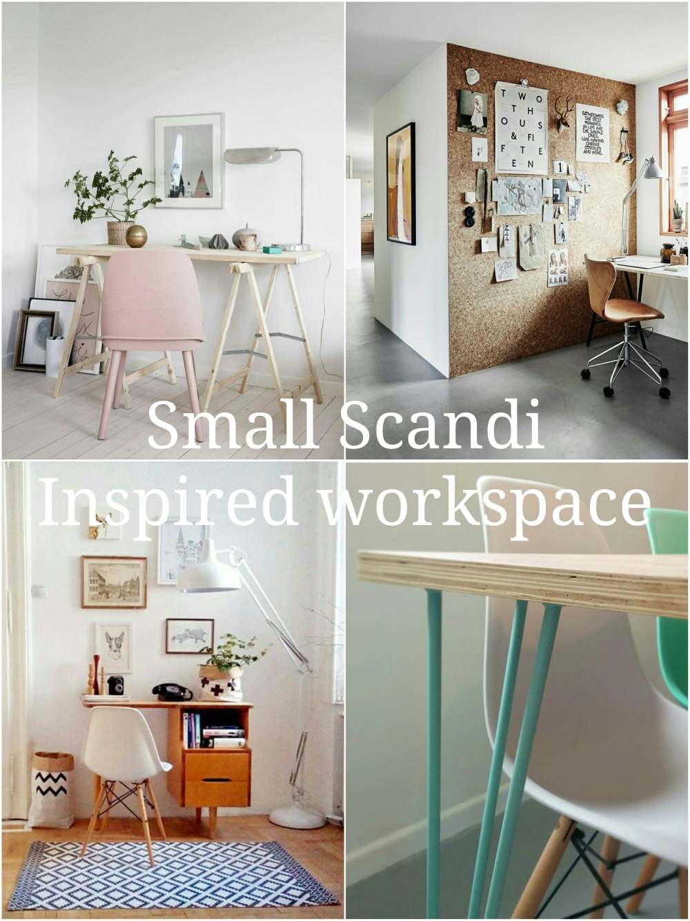 A small Scandi inspired workspace